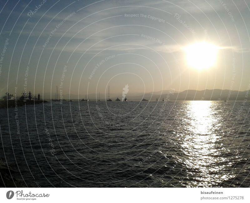 Mittelmeerflotte... Segeln Schwimmen & Baden gigantisch reich Hoffnung Stolz Abenteuer Horizont Krise Jacht Segelboot Flotte Meer Wasser modern Reichtum