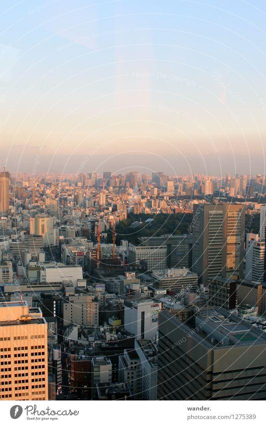 Skyline der Großstadt Tokyo – Abendstimmung Japan Ferne Sightseeing Städtereise Himmel Horizont Sonnenlicht Schönes Wetter Asien Hauptstadt Hafenstadt