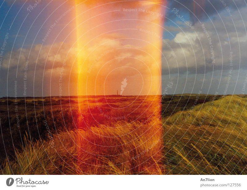 Verstrahlt pt.1 orange Streifen Belichtung Fehler Lichteinfall Fototechnik Ameland