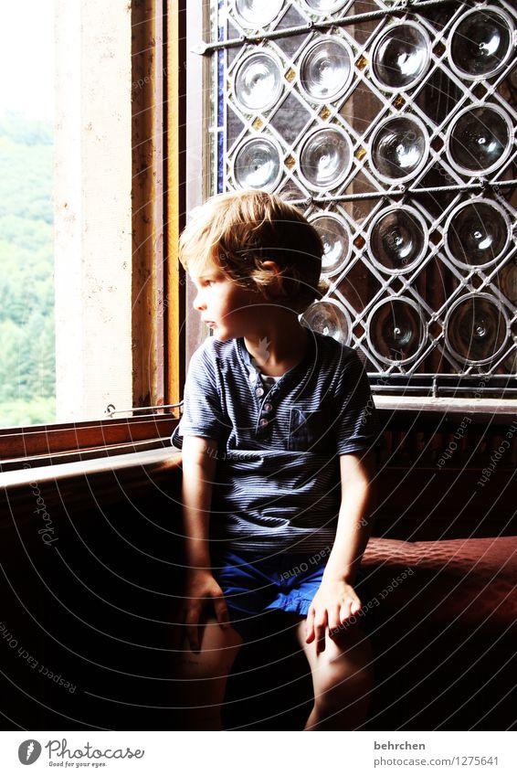 *450* ausblicke Kind schön Erholung Hand Fenster Gesicht Auge Junge Familie & Verwandtschaft Beine Haare & Frisuren Kopf maskulin träumen nachdenklich Körper