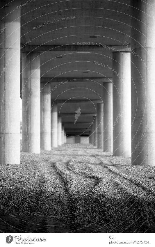     Ferne Architektur Wege & Pfade Stein Perspektive Brücke Ziel Bauwerk Säule Kies Stabilität