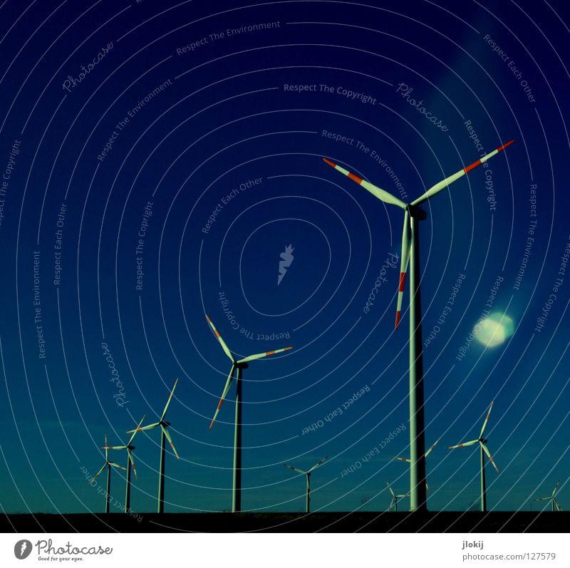 Generators VIII Himmel Wiese Gras Luft Kraft Feld Industrie Energiewirtschaft Elektrizität Rasen Netz Klarheit Windkraftanlage Unternehmen drehen