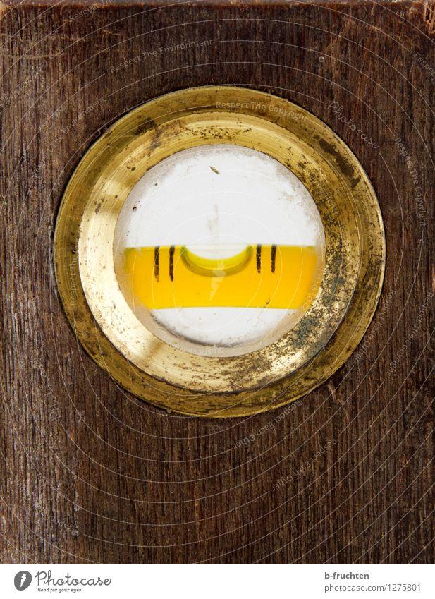 paassst!!! Werkzeug Messinstrument Wasserwaage Holz Arbeit & Erwerbstätigkeit alt braun gold gewissenhaft Genauigkeit horizontal messen Handwerk Mitte