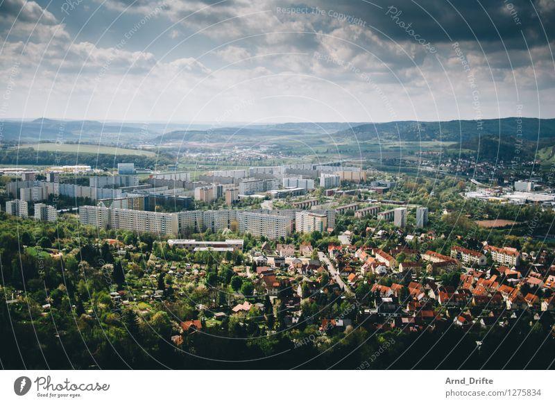 Platte Himmel Stadt blau grün Sommer Baum Landschaft Wolken Haus Wald Berge u. Gebirge Umwelt Architektur Gebäude Wohnung Wetter