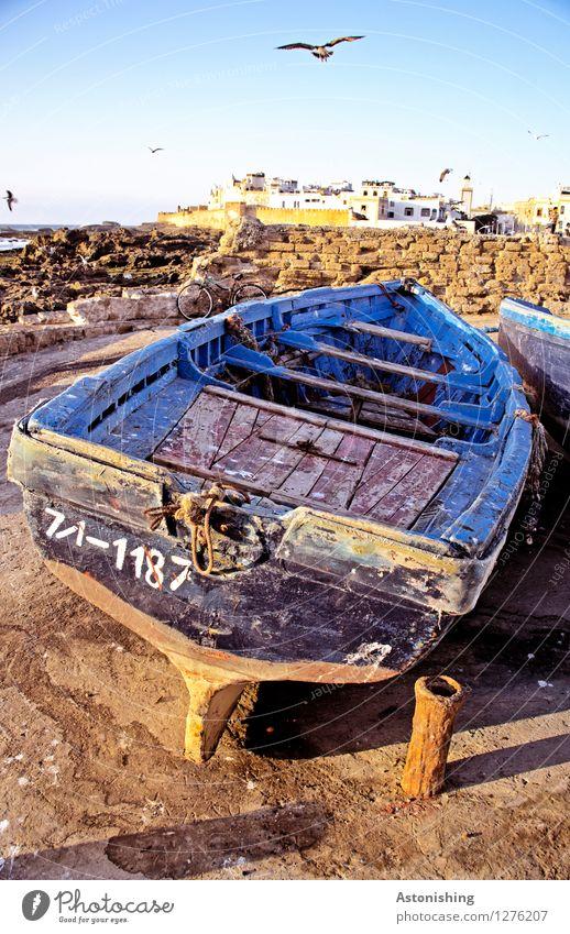 Das alte Fischerboot Himmel Natur Stadt blau Sommer Meer Haus Tier Umwelt Wand Küste Mauer Holz Vogel Felsen
