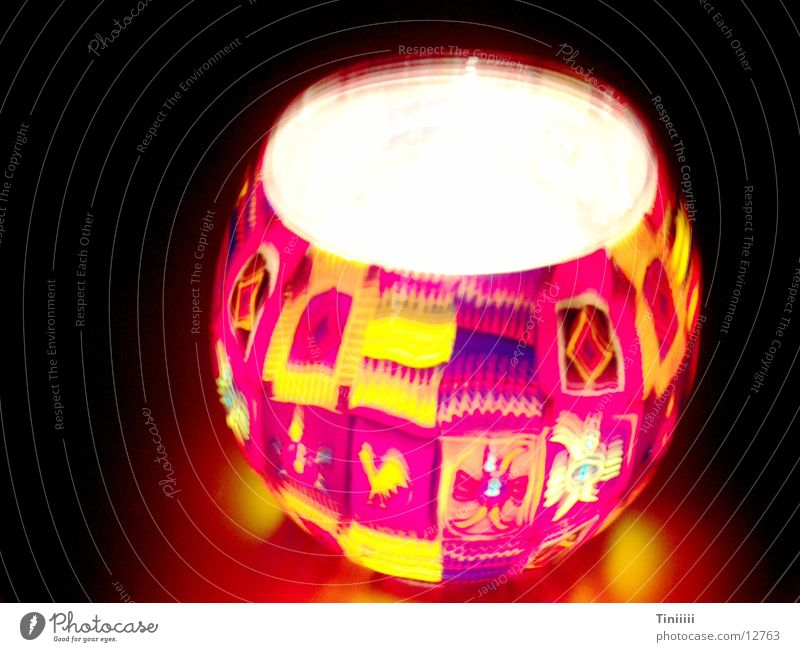 Lamperl dunkel Glas Brand Kerze Laterne obskur Lampion
