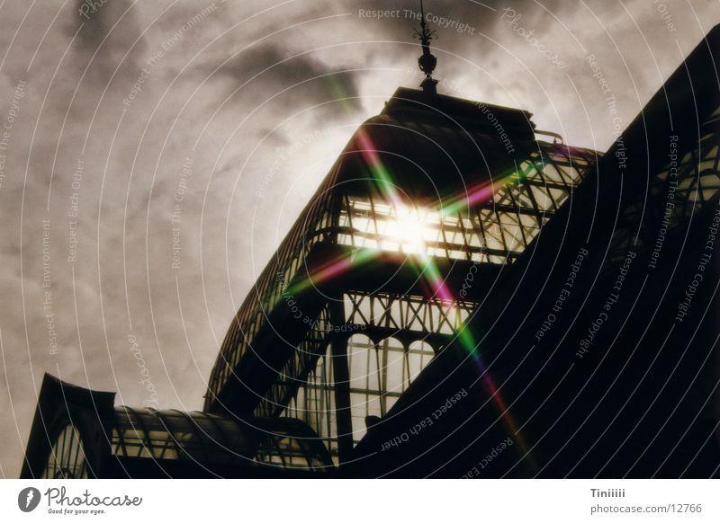 Palacio de Cristal im Gegenlicht Stimmung Europa Lichtbrechung Gewächshaus Spanien Madrid