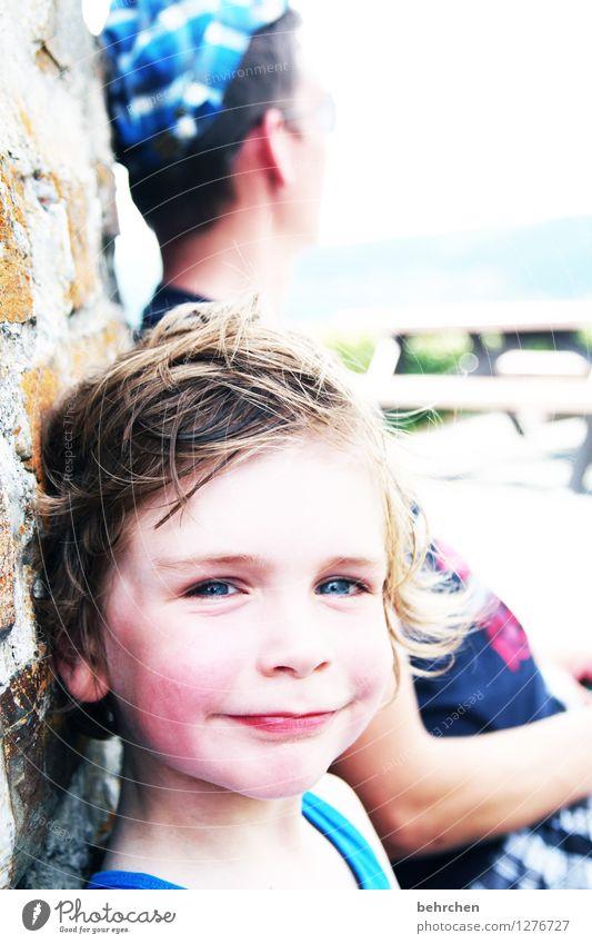 sorgenvertreiber und mutmacher Mensch Kind Mann blau schön Gesicht Erwachsene Auge Junge Spielen lachen Glück Familie & Verwandtschaft Haare & Frisuren Kopf