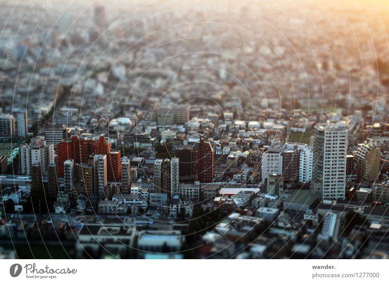 Miniaturansicht: Blick auf die Metropole Tokyo, Japan Stadt Haus Ferne Gebäude oben Wachstum Hochhaus Perspektive Schönes Wetter Asien Hauptstadt Stadtzentrum Abenddämmerung Japan Städtereise Hafenstadt