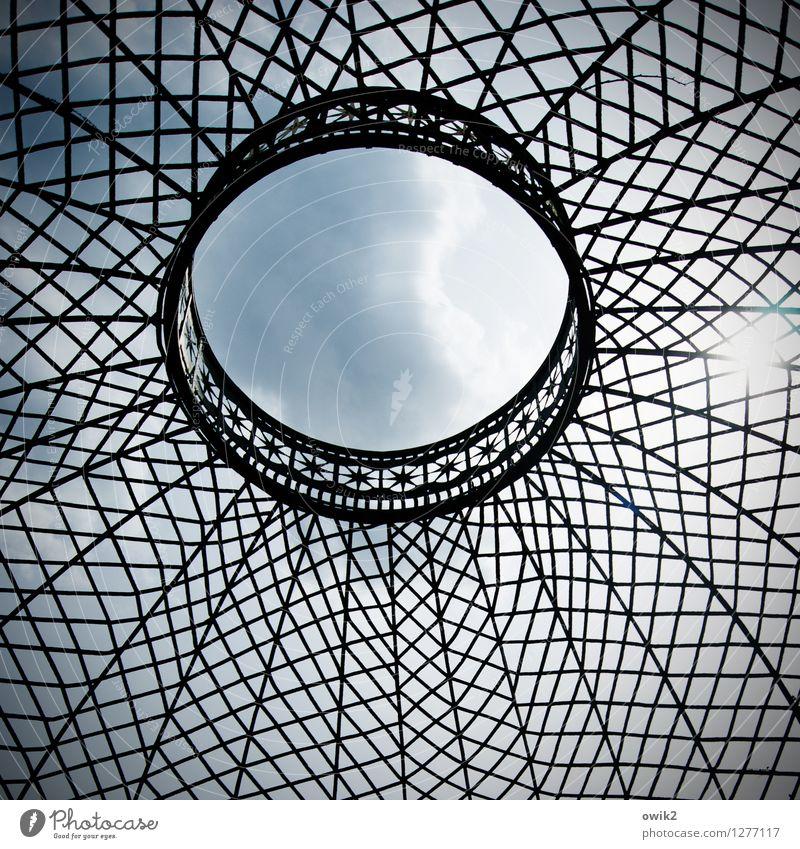 Lüftung Himmel Wolken Bauwerk Gebäude Pavillon Schloss Sanssouci Metall oben Öffnung Loch Gitter netzartig Farbfoto Gedeckte Farben Außenaufnahme Innenaufnahme