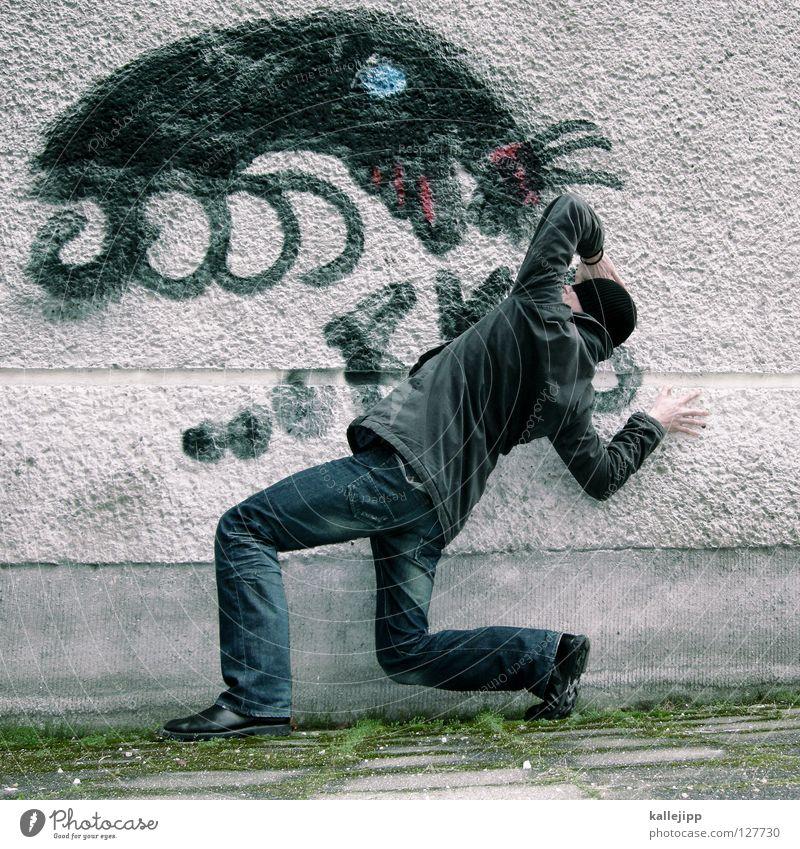 sigfried Haus Ernährung Straße Graffiti Wand Bewegung Freundschaft Kunst Zufriedenheit Angst fliegen Brand Schriftzeichen Lifestyle Zeichen geheimnisvoll