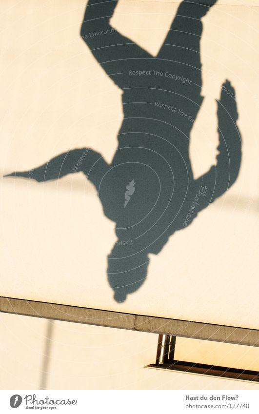 Schattenkrieger Mensch ruhig schwarz dunkel Wand Gefühle Haare & Frisuren Mauer Stil träumen Tanzen Kraft Angst Haut Geschwindigkeit Perspektive