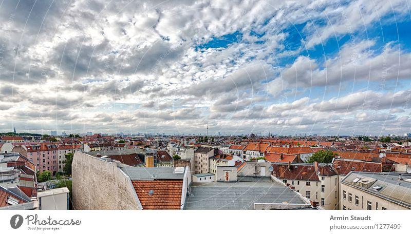 Berlin - Panorama Himmel Ferien & Urlaub & Reisen Stadt Sommer Landschaft Wolken Haus Ferne Frühling Business Stimmung Horizont Tourismus ästhetisch groß
