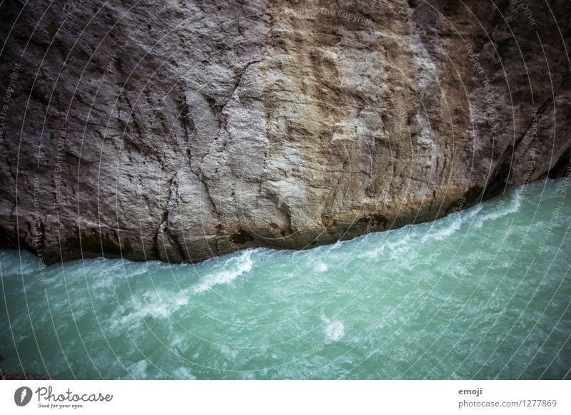 Fluss Natur Landschaft Umwelt Wind bedrohlich Unwetter türkis Sturm Schlucht