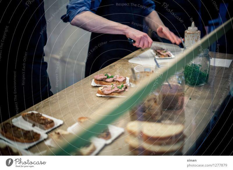 Steak Sandwich Lebensmittel Fleisch Teigwaren Backwaren Brot Ernährung Mittagessen Abendessen Slowfood außergewöhnlich lecker schön Belegtes Brot mariniert