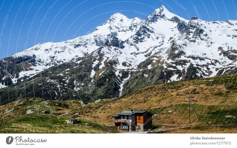 Passo dello Spluga 2 Natur Ferien & Urlaub & Reisen Sommer Landschaft Haus Berge u. Gebirge Umwelt Frühling natürlich Schnee Gebäude Tourismus leuchten wandern