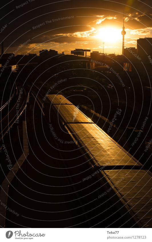 Sonnenuntergangsberlin II Ferien & Urlaub & Reisen Sommer Fernsehen Berlin Stadt Hauptstadt Stadtzentrum Skyline Platz Tower (Luftfahrt) Abenteuer ästhetisch
