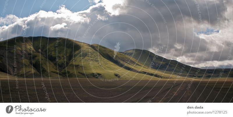 Island Ferien & Urlaub & Reisen Tourismus Ausflug Abenteuer Ferne Freiheit Expedition Berge u. Gebirge wandern Wiese Hügel Felsen Gipfel Insel außergewöhnlich