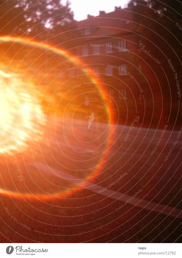 Gegen die Sonne2 Abendsonne Licht Verkehr Feierabend Club