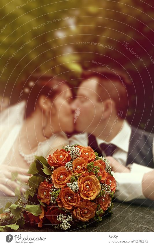Ti Amo <3 Mensch maskulin feminin Frau Erwachsene Mann Eltern Familie & Verwandtschaft Paar Partner Kopf 2 30-45 Jahre Natur Park Kleid Anzug Hochzeitspaar