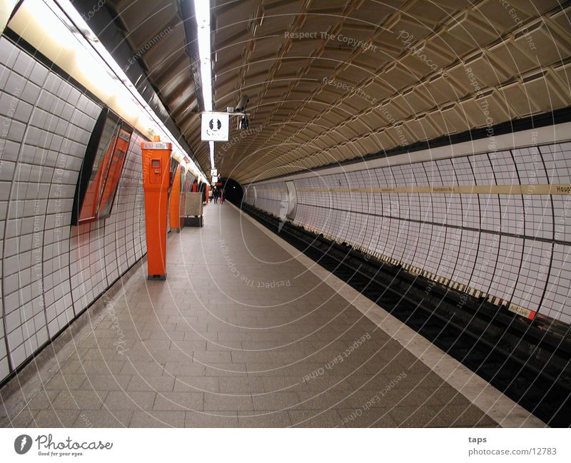 U-bahn Hamburg Verkehr Telefon Fliesen u. Kacheln Station Tunnel U-Bahn Bahnhof Notruf