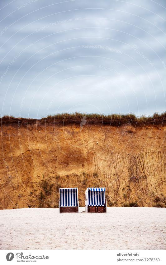 Sylt II Ferien & Urlaub & Reisen Tourismus Ausflug Ferne Freiheit Strand Meer Umwelt Natur Landschaft Urelemente Sand Himmel Wolken Klima Wetter Schlucht Küste