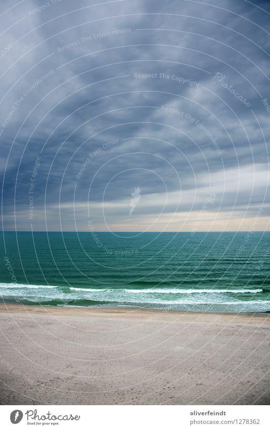 Sylt V Ferne Freiheit Umwelt Natur Landschaft Himmel Wolken Horizont Klima Klimawandel Wetter schlechtes Wetter Unwetter Wind Sturm Regen Wellen Küste Strand