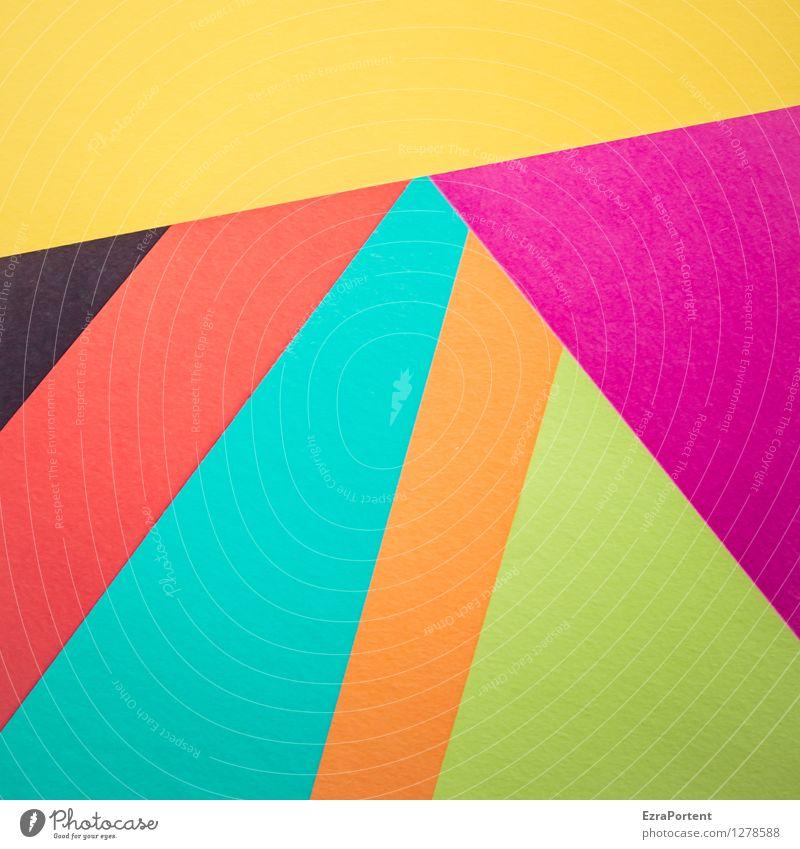 in Form elegant Stil Design Basteln Linie Streifen ästhetisch blau mehrfarbig gelb grün violett orange rot schwarz türkis Farbe Strukturen & Formen Geometrie
