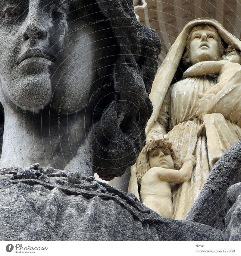 Spirits In The Material World Gesicht Dekoration & Verzierung Erwachsene Kunst Kultur Wetter Stein historisch Sorge Glaube Religion & Glaube Vergangenheit