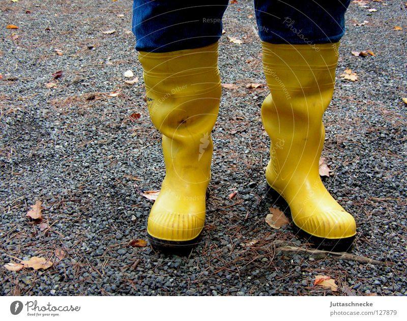 Quietschgelb Wasser gelb Farbe Fuß Regen Wetter nass Bekleidung Sicherheit Fröhlichkeit paarweise Schutz Stiefel Qualität Gummistiefel April
