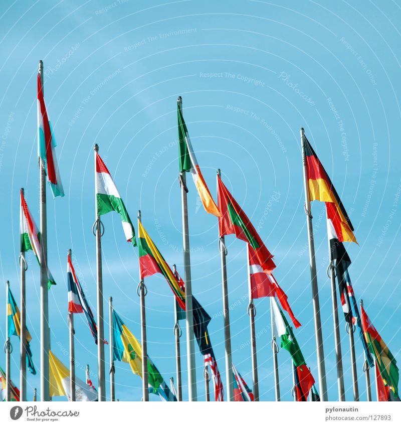 international Himmel blau Ferien & Urlaub & Reisen Wolken Erde Wind Europa USA Fahne Afrika Asien Sitzung Amerika Messe Leipzig Australien