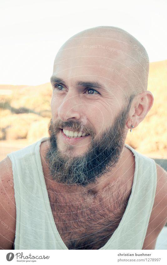sunny guy Mensch Natur Ferien & Urlaub & Reisen Mann Erholung Erotik ruhig Gesicht Erwachsene Auge natürlich Glück lachen Freiheit außergewöhnlich
