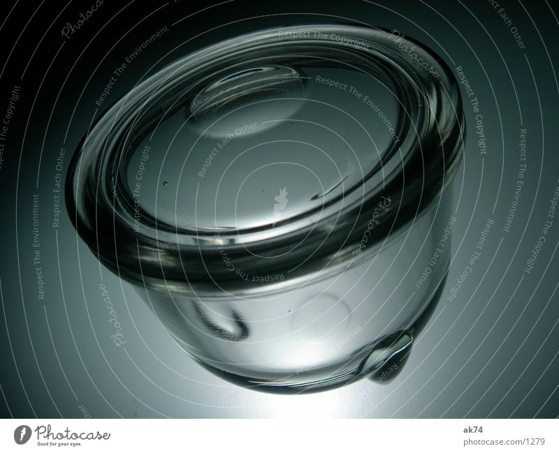 Glasgefäß grau Glas Kochen & Garen & Backen Küche Raum