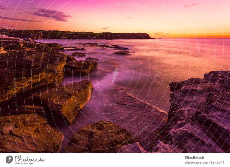 Natur Ferien & Urlaub & Reisen Sommer Sonne Meer Einsamkeit Landschaft Ferne Strand Gefühle Küste Freiheit Lifestyle Stimmung Felsen Horizont