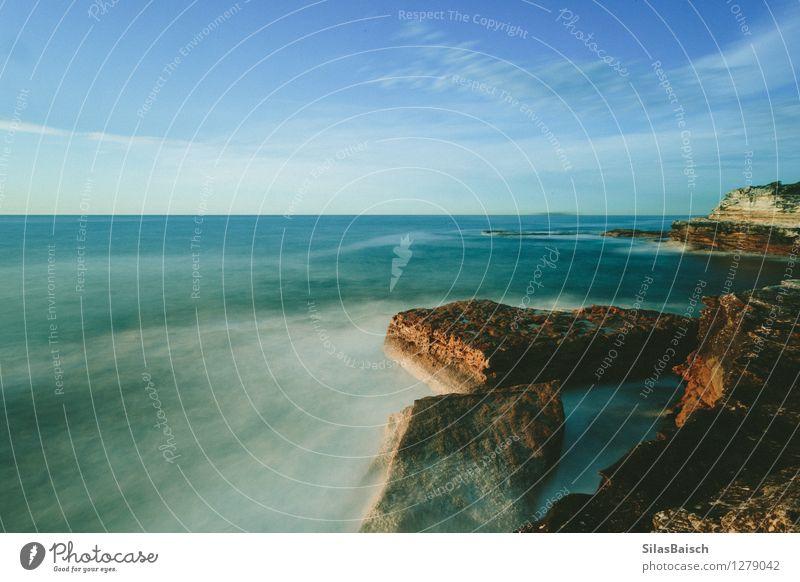 Himmel Natur Ferien & Urlaub & Reisen Sommer Meer Landschaft Wolken Ferne Umwelt Küste Freiheit Felsen glänzend Wellen Insel Ausflug