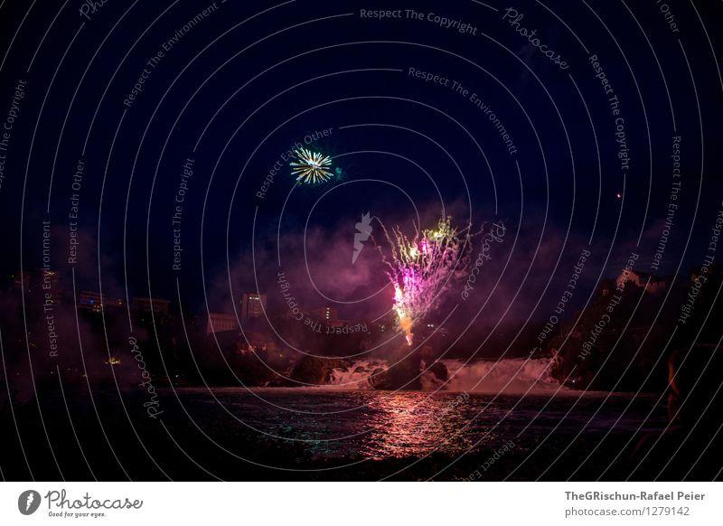 Feuerwerk 10 Kunst Theaterschauspiel Veranstaltung Show Party gelb gold grau grün violett orange rosa rot schwarz Pyrotechnik Knall Explosion schießen sprengen