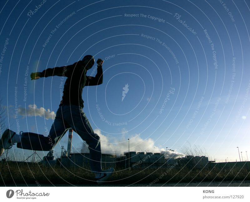 zing Himmel Freude Sport springen Bewegung laufen Beginn rennen Geschwindigkeit Industriefotografie Ziel vorwärts Rauch Dynamik sportlich vergangen