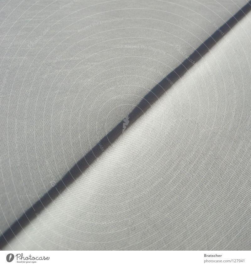 Zett. weiß Hintergrundbild Ecke Stoff Falte Material diagonal Tuch Steigung Haptik Trennlinie