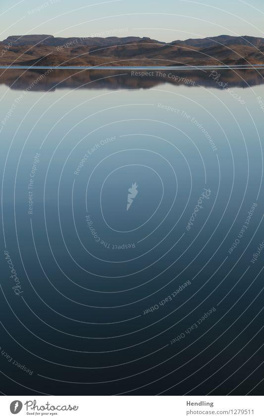 Im Spiegel des Atlas II Natur Landschaft Erde Luft Wasser Himmel Wolkenloser Himmel Hügel Felsen Berge u. Gebirge blau grün Marokko Afrika ruhig Farbverlauf