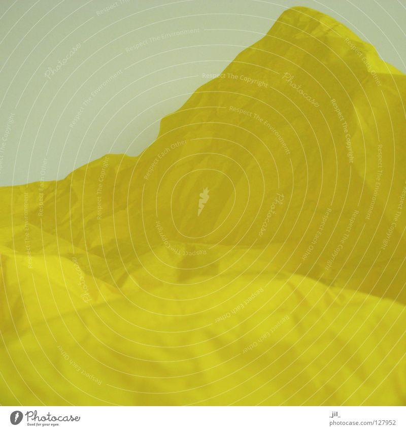 landschaft 2 Sommer Freude gelb Farbe Berge u. Gebirge Glück Landschaft Stimmung Papier Sehnsucht Gedanke Vorfreude reduzieren Verpackung Seidenpapier