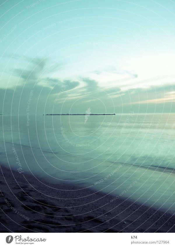 HEY JADE Wasser Himmel Meer Strand Ferien & Urlaub & Reisen Wolken Ferne Erholung Sand Luft Küste glänzend groß Perspektive Insel nah