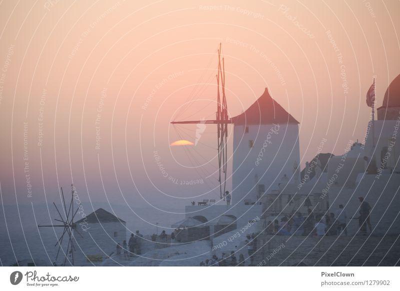 Santorin Ferien & Urlaub & Reisen schön Wasser Sonne Erholung Meer Landschaft ruhig Strand Architektur Lifestyle Stimmung orange träumen Tourismus elegant
