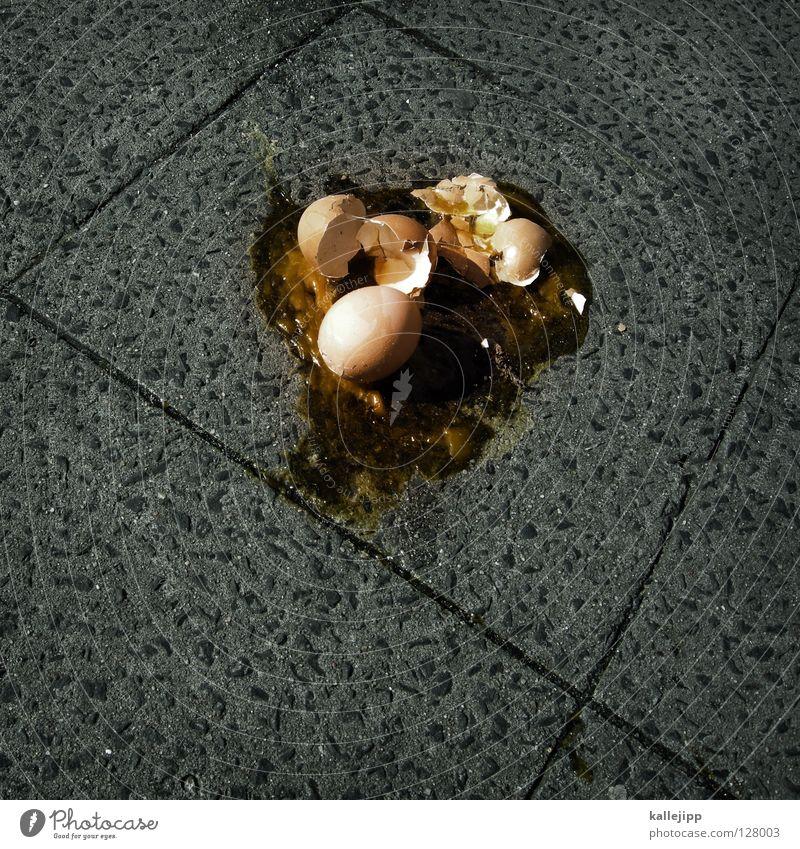 osterwetter (sauerei des monats) Straße Vogel Ernährung 3 Kochen & Garen & Backen kaputt Bürgersteig Kot Ei Plattenbau Unfall Haushuhn Versteck Osterei Oval Eigelb