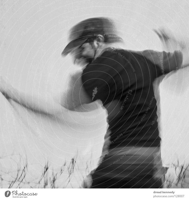 Dancing Cyprine Mensch Mann Freude Erwachsene Spielen Bewegung springen Beine Tanzen Arme verrückt Show Theaterschauspiel Mütze Veranstaltung Künstler