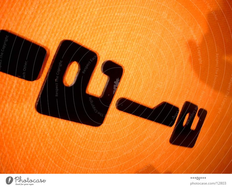 Schrift orange Schriftzeichen Buchstaben Wort Fototechnik