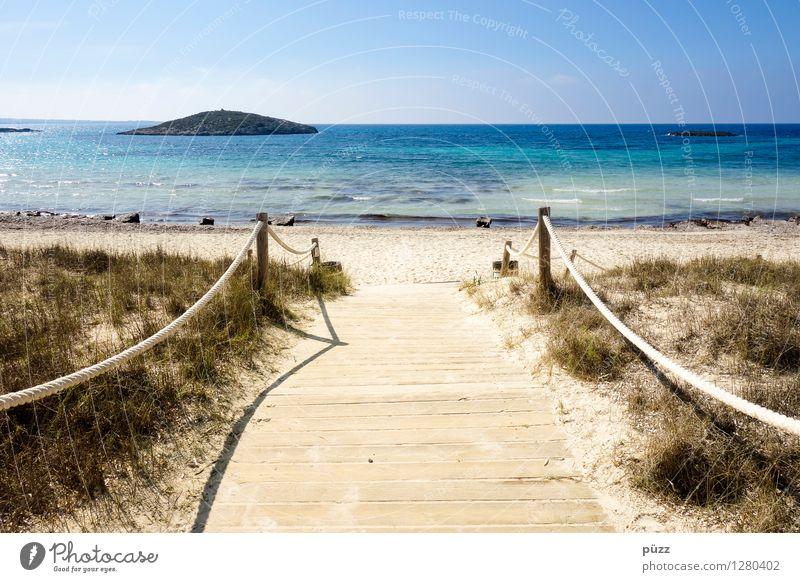Paradise Himmel Natur Ferien & Urlaub & Reisen Sommer Sonne Erholung Meer Landschaft ruhig Strand Umwelt Leben Küste Tourismus Wellen Insel