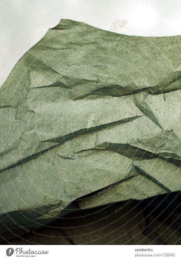Papier Felsen Vergänglichkeit obskur Falte Seite durchsichtig Bogen Granit Fälschung Sandstein Platzhalter zerquetschen