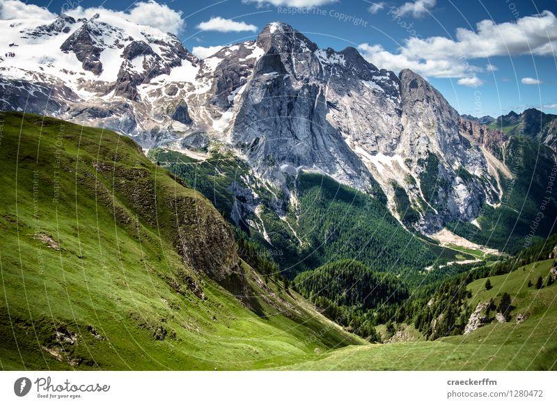 Dolomiten IV Ferien & Urlaub & Reisen blau grün Sommer Sonne Landschaft Wolken Ferne Berge u. Gebirge Freiheit außergewöhnlich Freizeit & Hobby Tourismus