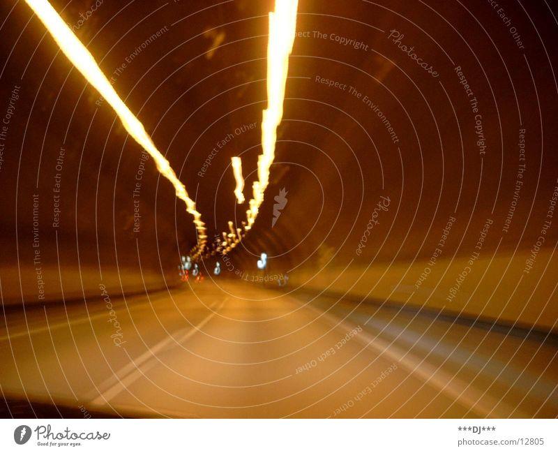 Tunnel Verkehr Geschwindigkeit Licht