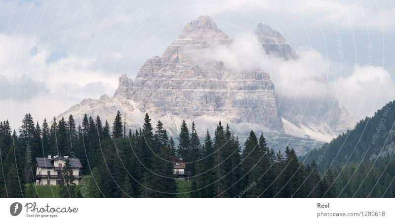 Drei Zinnen Himmel Natur Ferien & Urlaub & Reisen schön Sommer Landschaft Wolken Wald Berge u. Gebirge Umwelt Stein Felsen Nebel wandern Aussicht hoch
